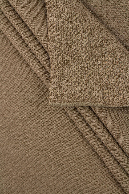 Knit - French Terry - Military Khaki/Brown - 190 cm - 250 g/m2