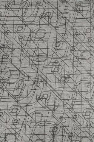 Dresówka drapana w abstrakcyjne kreski - szary melanż - 175cm 360g/m2 STOK thumbnail