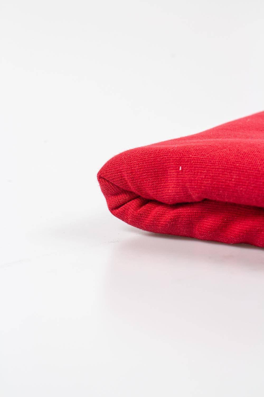 Dzianina ściągaczowa gładka - czerwony 80cm/160cm 260g/m2