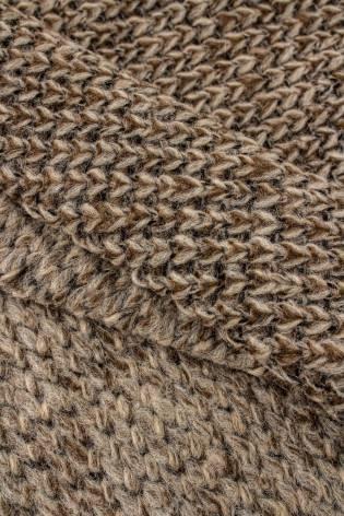 Dzianina sweterkowa gruba beżowa - 150cm 330g/m2 thumbnail