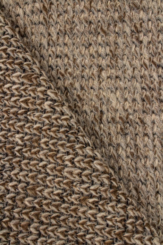 Dzianina sweterkowa gruba beżowa - 150cm 330g/m2