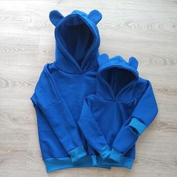 🐻Mi się chce szyć! 🤗Tobie też?  Ciepła dresówka drapana sprawdzi się w przypadku projektów bluz szytych z myślą o nadchodzącej jesieni🍂  Jak Wam się podoba propozycja od @paulindzi_szyje?❤️😍✂️ • . . . #dziane #dresowka #bluza #miś #mamaicórka #krawcowa #szycie #maszynadoszycia #samauszyłam #szyjemywpolsce #dresówka #dresówkadrapana #materiał #tkaniny #dzianiny #odzieżdziecięca