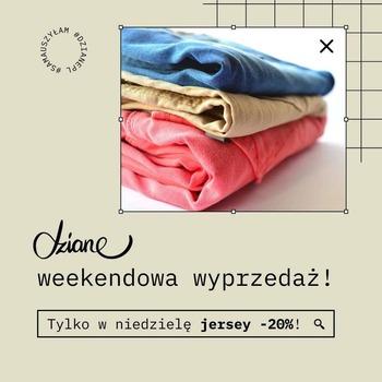 #WYPRZEDAŻ: -20% na jersey! ✂😄  Skomentuj post, aby otrzymać rabat 👋  Z kodu rabatowego możesz skorzystać robiąc zakupy na https://dziane.pl/pl/! 👌💣  Spiesz się, promocja obowiązuje tylko dzisiaj do północy 😍 • . . . #dziane #jersey #promocja #krawcowa #szyjemy #szyciowapasja #szycietomojapasja #materiał #tkanina #dzianina #samauszyłam #uszyłam #maszynadoszycia #szwaczka