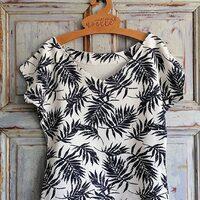 🌴Ta bluzka wykonana przez @noelle_sewing to zapowiedź zbliżających się wakacji 🌤 • . . . #dziane #dzianina #jesey #bluzka #wakacje #szyciowapasja #szycie #krawiectwo #zróbtosam #wykrój #modaistyl #letniamoda #tkanina