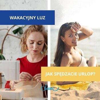 🌊⛱🗺W morzu tkanin i dzianin czy w Morzu Bałtyckim? ❤️✂Nad ściegiem czy nad jeziorem? 👕🩲🌞Przy maszynie czy przy lesie?  Napiszcie, jak spędzacie wakacje!📸 • . . . #dziane #wakacje #szycie #szyjemy #krawcowa #maszynadoszycia #materiał #tkanina #dzianina #jersey #dresowka #bawełna #ścieg #ściągacz #WakacyjnyLuz