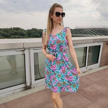 ❤️✂️✨Kwiecista sukienka, która wyszła spod igły @get.redi. Wiskoza zdała egzamin z bycia wdzięcznym materiałem na lato🍀 • . . . #dziane #sukienka #wiskoza #szycie #samauszyłam #krawiectwo #szyciowapasja #letniasukienka #kwiecistywzór #sukniawkwiaty #sukienkawiskozowa #flowerpattern