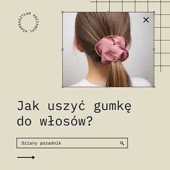 """👌🏻💁🏼W duchu zero waste przychodzimy do Was z kolejnym """"dzianym"""" tutorialem:  🤔Jak uszyć gumkę do włosów?  ☝🏻Zapisz post, żeby nie zapomnieć naszych porad!💡 • . . . #dziane #gumka #gumkadowłosów #scrunchie #scrunchiestyle #scrunchies #szyjemy #krawcowa #tutorial #poradnik #zerowaste #diy #tutorialszyciowy #jakuszyć #maszynadoszycia #agrafka #miarakrawiecka"""